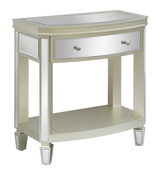 Crestview Collection Bent Champagne Drawer End Table CRST-CVFZR3611