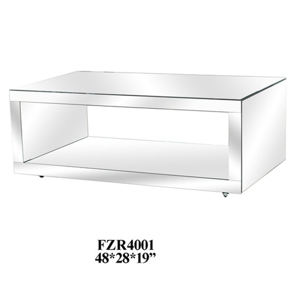 Crestview Collection Fletcher Mirrored Cocktail Table CRST-CVFZR4001