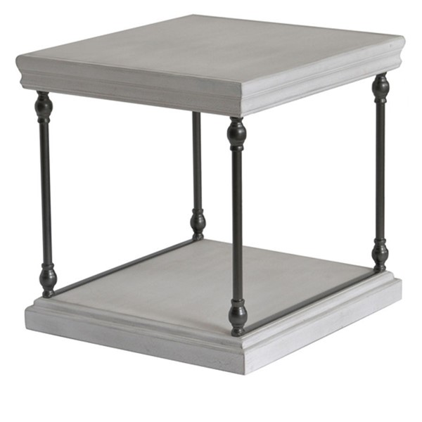 Crestview Collection Hanover White Rectangle End Table CRST-CVFZR4551