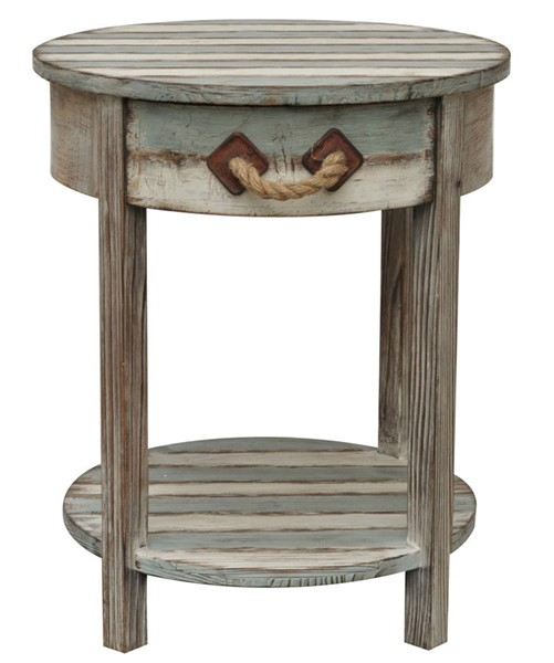 Crestview Collection Nantucket Weathered Accent Table CRST-CVFZR691
