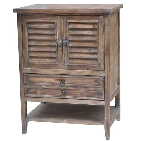 Crestview Collection Jackson Weathered Oak Bed Side Accent CRST-CVFZR757