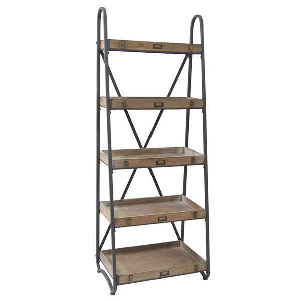Crestview Collection Voyager Wood Etagere Bookcase CRST-CVFZR867
