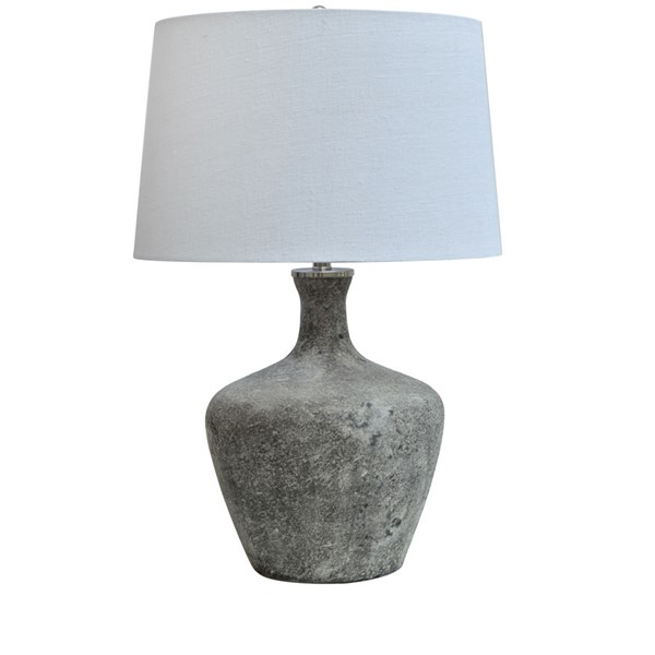 Crestview Collection Sharpe Frosted Smoke White Table Lamp CRST-CVIDZA007