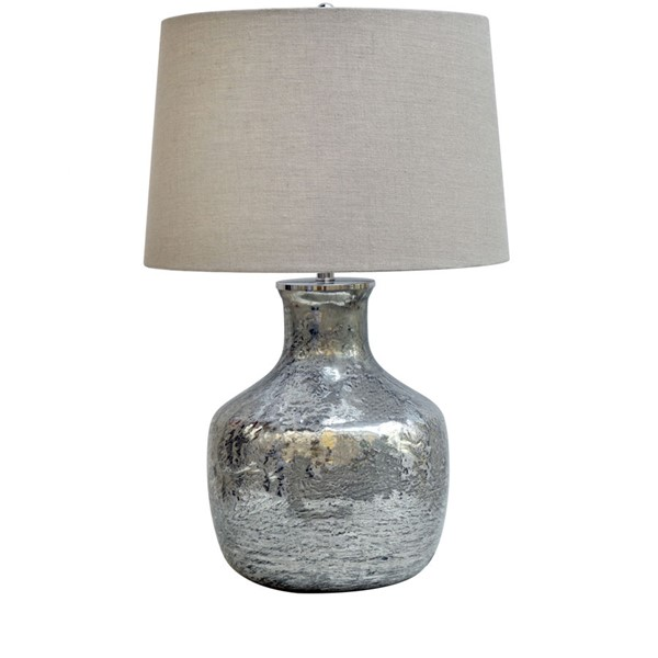Crestview Collection Blair Antique Silver Natural Table Lamp CRST-CVIDZA011