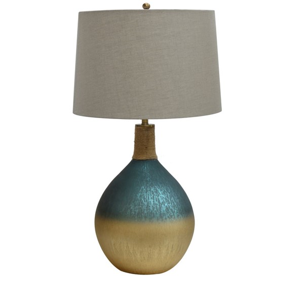 Crestview Collection Cole Ombre Turquoise Gold Table Lamp CRST-CVIDZA012