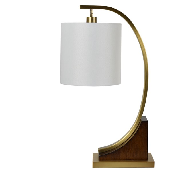Crestview Collection Ian Oak White Table Lamp CRST-CVLZY007