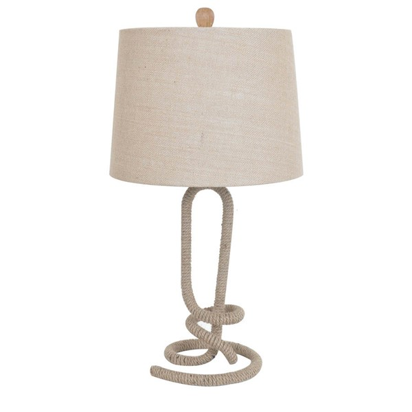 2 Crestview Collection Burlap Twisted Rope Table Lamps CRST-CVNAM696