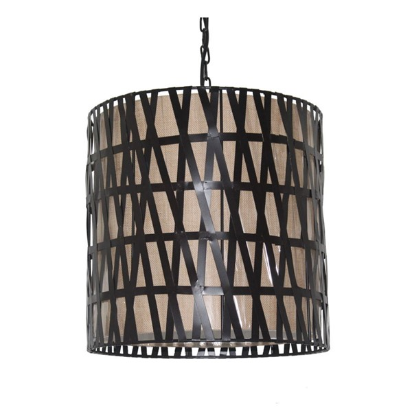 Crestview Collection Maddie Weathered Bronze Natural Pendant Lamp CRST-CVPDN003