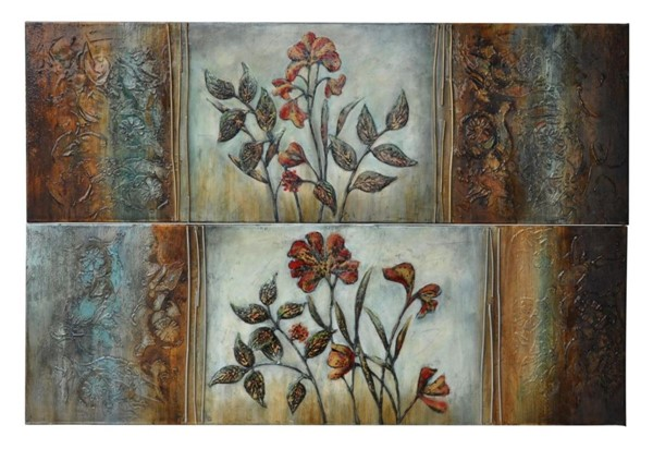Crestview Collection Canvas 2pc Spreading Warmth Wall Art CRST-CVTOP1200