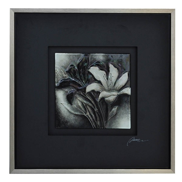 Crestview Collection B and W Floral 1 Wall Art CRST-CVTOP1681