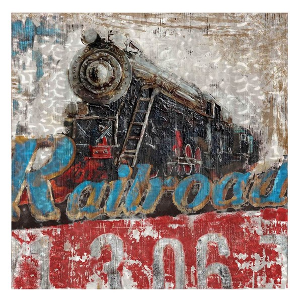 Crestview Collection Locomotive Metal Wall Art CRST-CVTOP1775