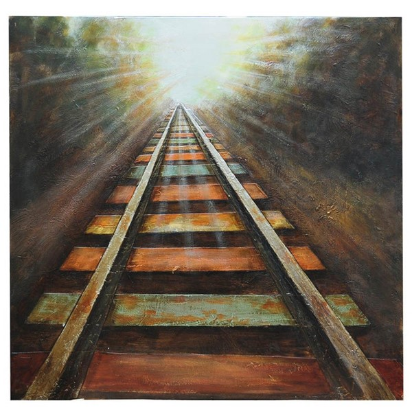 Crestview Collection End Of The Line Hand Painted Canvas Wall Art CRST-CVTOP1782