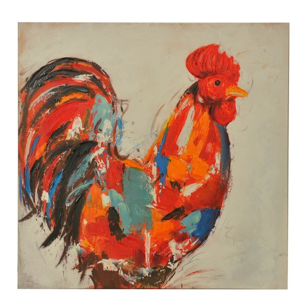 Crestview Collection Red Rooster Canvas Wall Art CRST-CVTOP1960