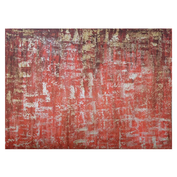 Crestview Collection Red Rising Hand Painted Canvas Wall Art CRST-CVTOP2100