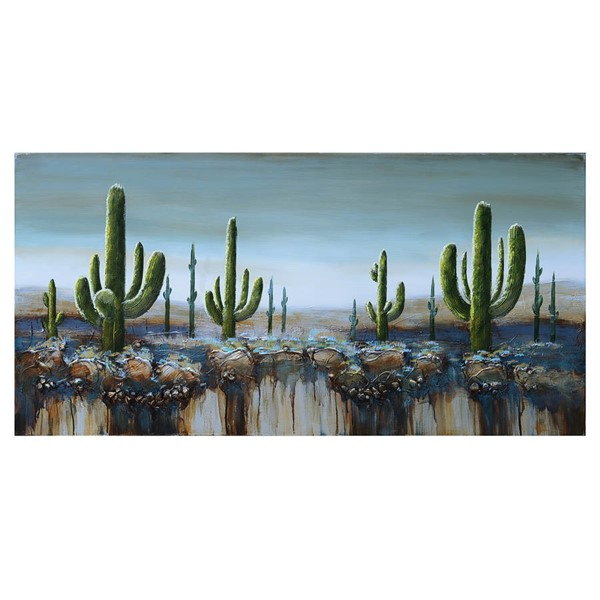 Crestview Collection Oasis 2 Hand Painted Canvas Wall Art CRST-CVTOP2104