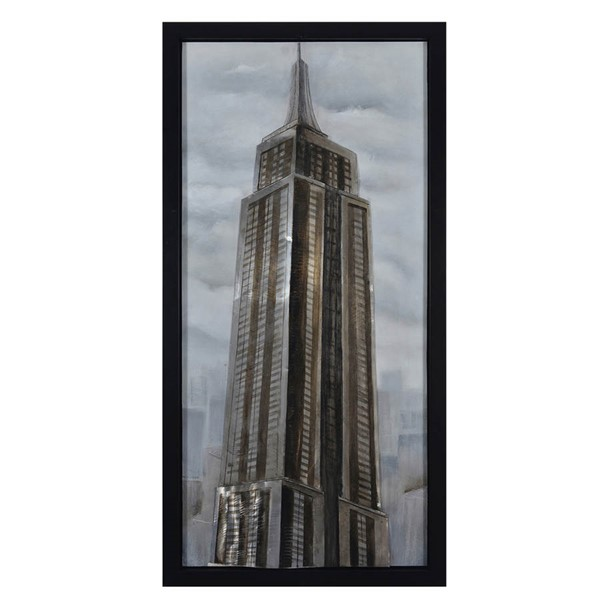 Crestview Collection Sillhoute Hand Painted Canvas Wall Art CRST-CVTOP2171