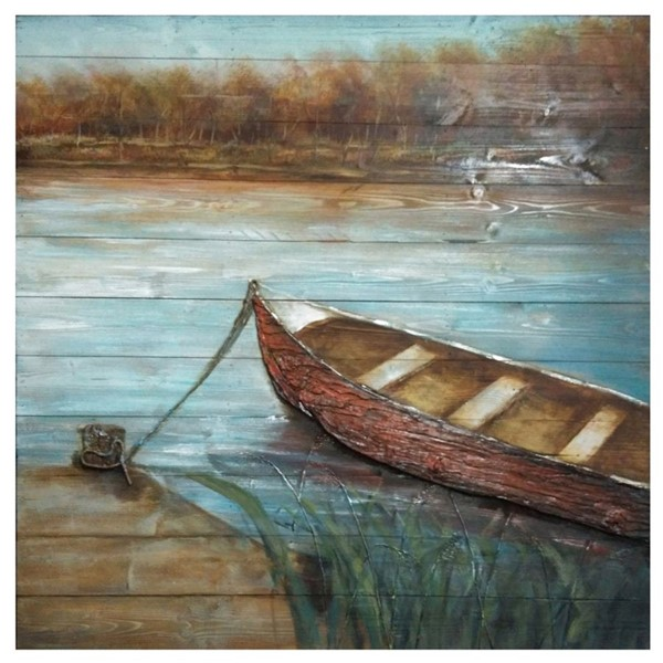 Crestview Collection Wood Docked Wall Art CRST-CVTOP2206