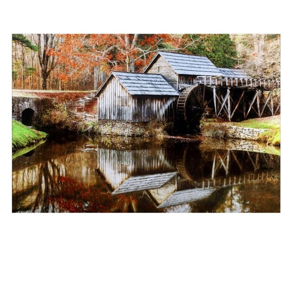 Crestview Collection Mill Tempered Glass Wall Decor CRST-CVTOP2387