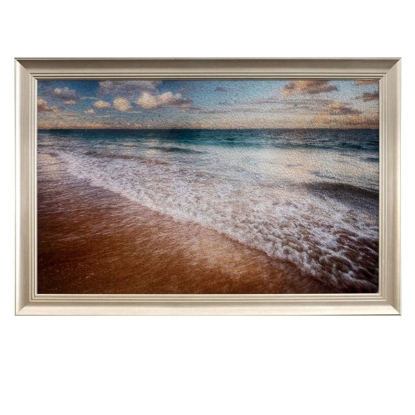 Crestview Collection Shore Line Tempered Glass Wall Decor CRST-CVTOP2408