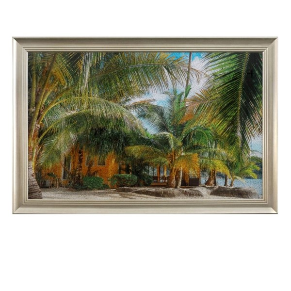 Crestview Collection Tropical Tempered Glass Wall Decor CRST-CVTOP2411