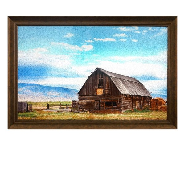 Crestview Collection Caldwell Tempered Glass Wall Decor CRST-CVTOP2413