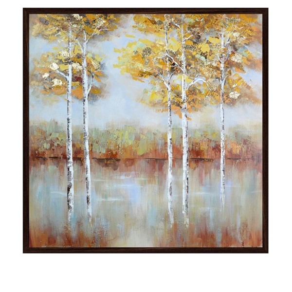 Crestview Collection Golden Square Hand Paint Canvas Wall Art CRST-CVTOP2420