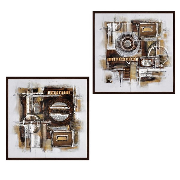 Crestview Collection Creo 2pc Hand Painted Canvas Wall Art CRST-CVTOP2422