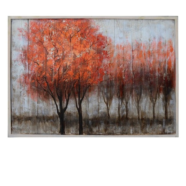 Crestview Collection Red Toppers Hand Paint On Wood Wall Art CRST-CVTOP2435