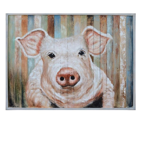 Crestview Collection Porky Hand Paint On Wood Wall Art CRST-CVTOP2438