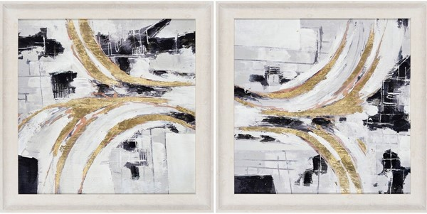 Crestview Collection Abstract 2pc Wall Art CRST-CVTOP2519