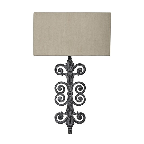 Crestview Collection Lazzaro Oatmeal Antique Wall Lamp CRST-CVW1P394