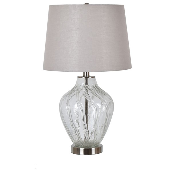 Crestview Collection Clear Glass Metal Table Lamp CRST-EVABS1921