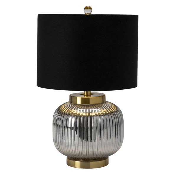 Crestview Collection Black Shade Table Lamp CRST-EVABS1922