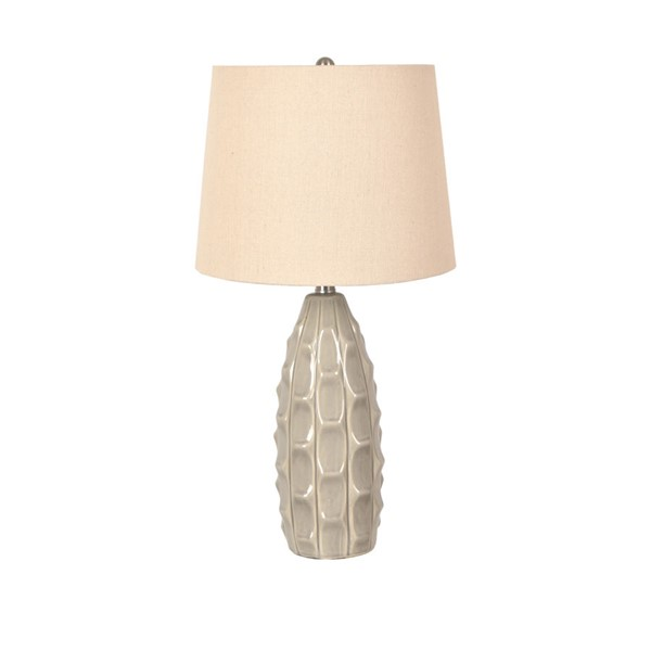 Crestview Collection Gray Ceramic Table Lamp CRST-EVAP2372GRY