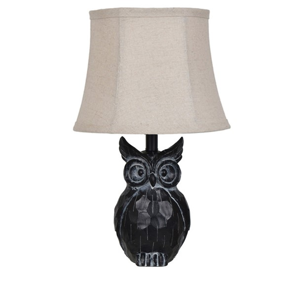 Crestview Collection Black Resin Owl Table Lamp CRST-EVAVP1133