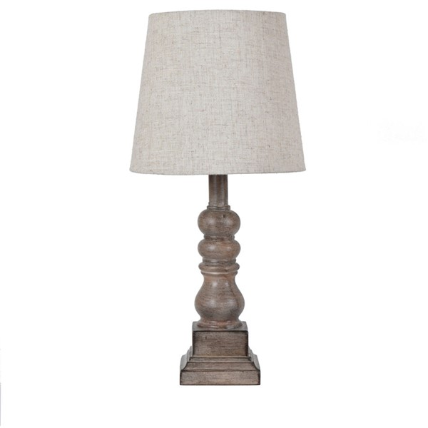 Crestview Collection Distressed Brown Table Lamp CRST-EVAVP1349BWN