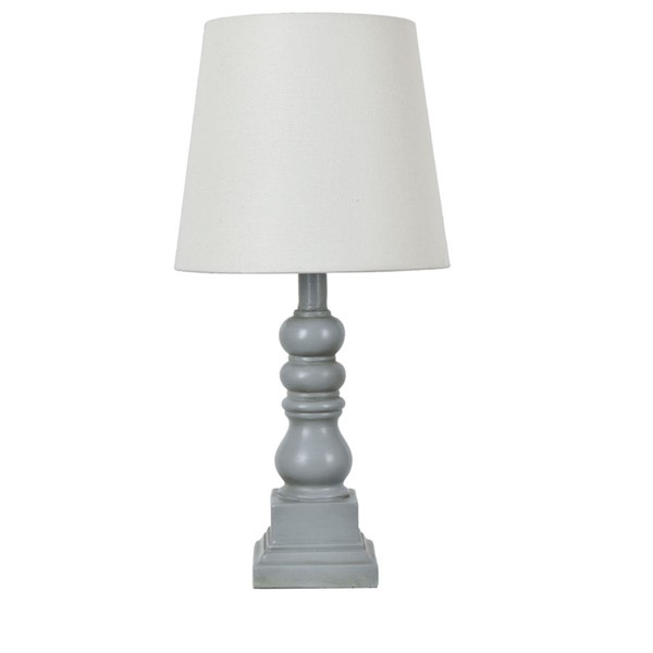 Crestview Collection Distressed Gray Table Lamp CRST-EVAVP1349GRY