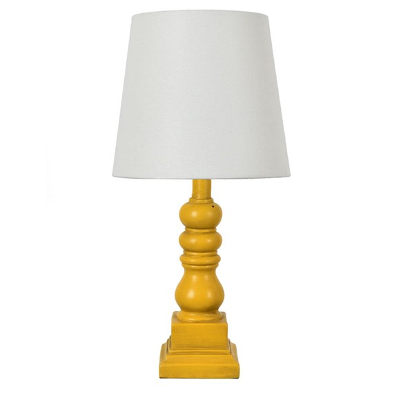 Crestview Collection Distressed Yellow Table Lamp CRST-EVAVP1349YW