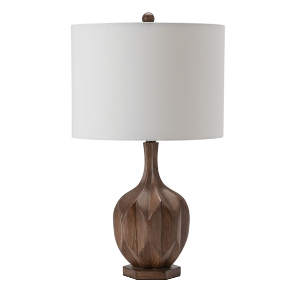 Crestview Collection Brown Fabric Table Lamp CRST-EVAVP1452