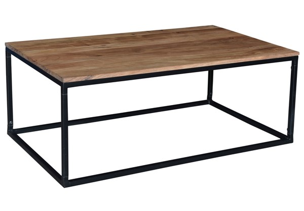 Crestview Collection Wood Rectangle Coffee Table CRST-EVFNR1073