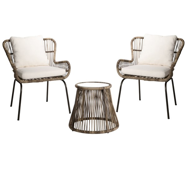 Crestview Collection Wicker 3pc Seating Set CRST-EVFVR0019OD