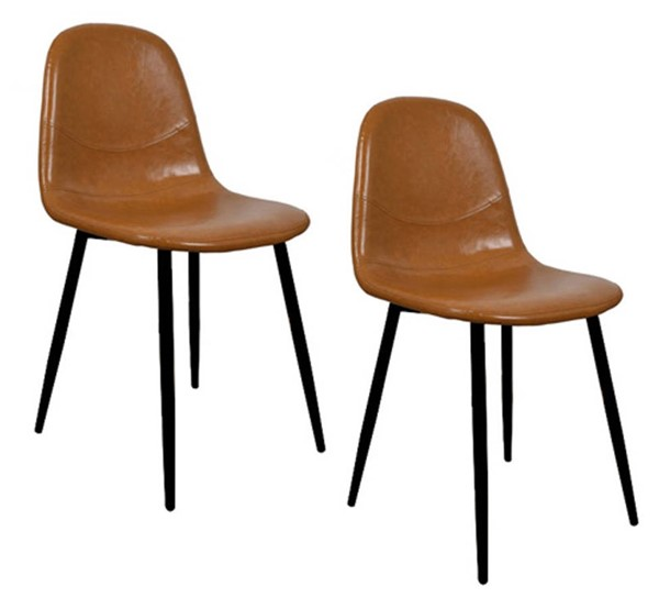 Crestview Collection Light Brown Black Dining Side Chair CRST-EVPRFZR3124BWN