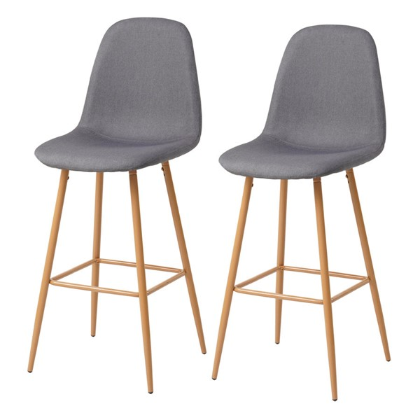 Crestview Collection Brown Gray Fabric Bar Stool CRST-EVPRFZR3126GRY
