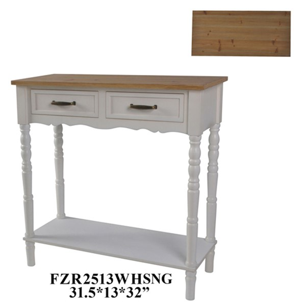Crestview Collection White Console Table CRST-FZR2513WHSNG