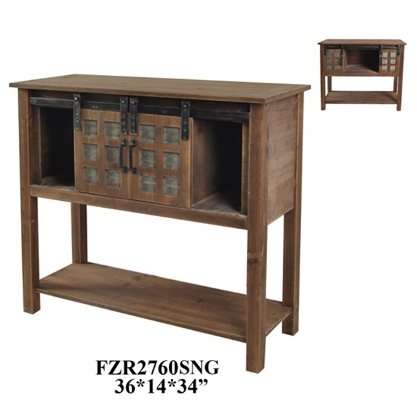 Crestview Collection Storage Console Table CRST-FZR2760SNG