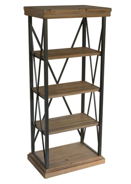 Crestview Collection Metal 4 Shelves Bookcase CRST-FZR2794SNG