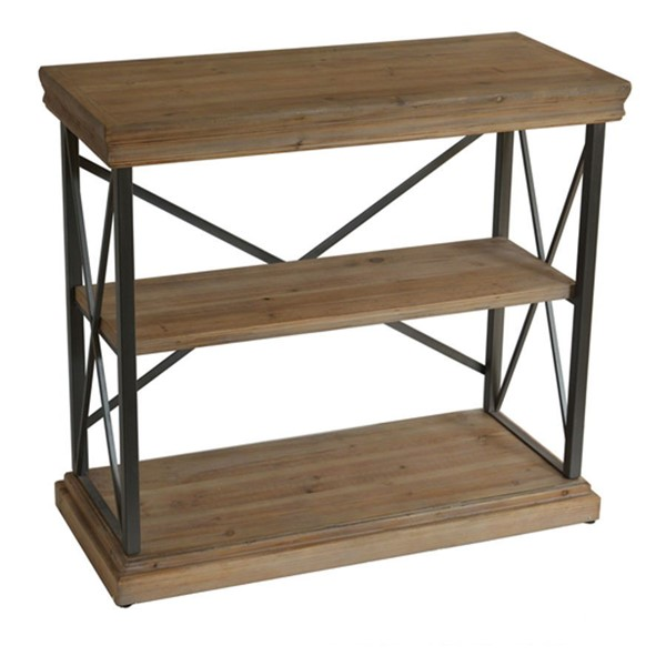 Crestview Collection Metal Storage Sofa Table CRST-FZR2795SNG