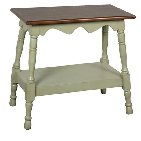 Crestview Collection Grey Storage Side Table CRST-FZR2812GRSNG