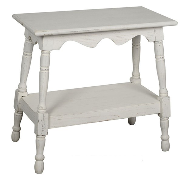 Crestview Collection White Storage Side Table CRST-FZR2812WHSNG