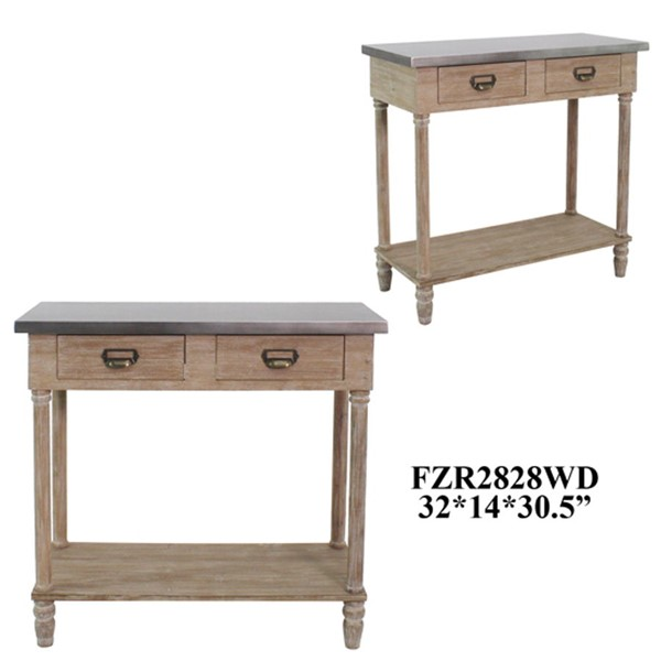 Crestview Collection Wooden Console Table CRST-FZR2828WDSNG